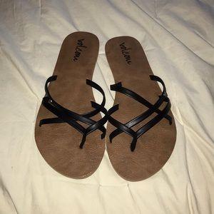 Volcom sandals!